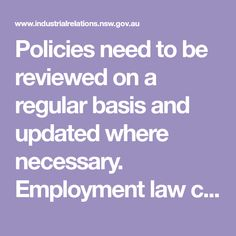 workplace policies and procedures