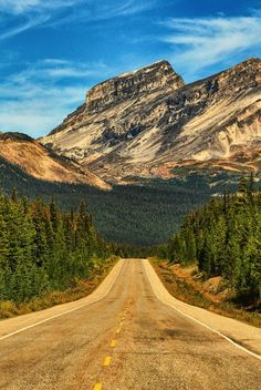 Escape North by Jeff Clow in Banff National Park, leads north up the Icefields Parkway - Canada