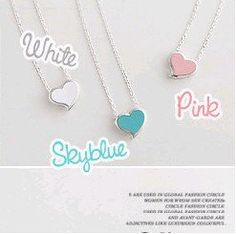 Mixed wholesale fashion sweet peach heart necklace 3 colors X4188