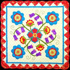 """Country Charm"" by Happy Stash Quilts.  Happy is right!  That's the way these colors make me feel :)"