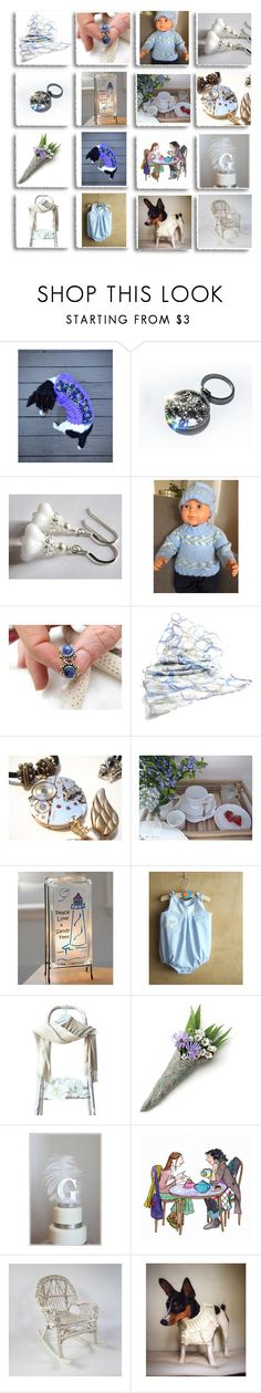 """""""Handmade on Etsy"""" by therusticpelican ❤ liked on Polyvore featuring Corgi, Peugeot, Lampara, modern, contemporary, rustic and vintage"""