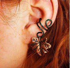 Forest Elf Ear Cuff by BarbedLotusJewelry, $12.00 USD
