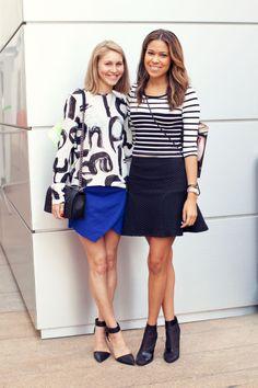 Marie Claire Editor Street Style: Jessica Minkoff, Fashion Features Editor & Brittany Kozerski, Associate Market Editor