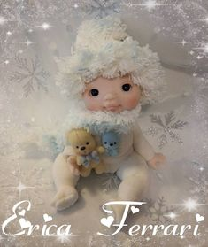 # biscuit # porcelain # porcelanafria Clay Baby, Clay Figurine, Polymer Clay Dolls, Air Dry Clay, Cold Porcelain, Ferrari, Biscuits, Teddy Bear, Christmas