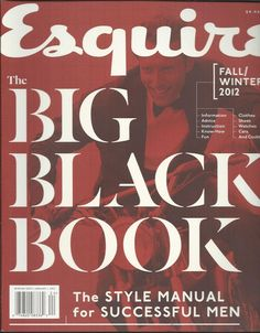 Esquire magazine Big Black Book Mens fashion Style manual Clothes Watches Advice