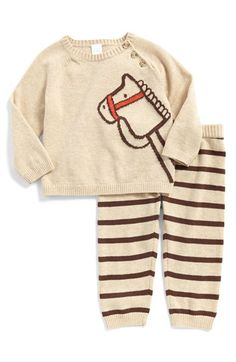 Nordstrom Baby Cotton Sweater & Pants (Baby Boys) available at Little Boy Fashion, Kids Fashion Boy, Toddler Fashion, Baby Boys, My Baby Girl, Gender Neutral Baby Clothes, Cute Baby Clothes, Nordstrom Baby, Baby Boy Pictures