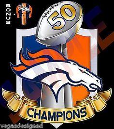 """Denver Broncos SUPER BOWL 50 CHAMPIONS Decal/Sticker FULL COLOR Car Truck 7"""" V4"""
