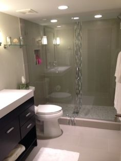 Cincinnati Bathroom Remodeling Interior custom bath remodel: frameless shower doors; double vanity
