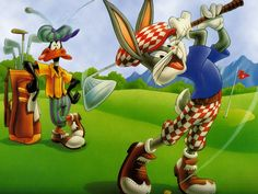 Bugs Bunny & Daffy Duck Hit The Links! Looney Tunes is a Warner Bros. animated cartoon