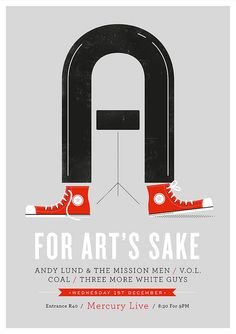 Andy Lund and the Mission Men gig poster by Adam Hill