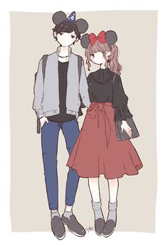 Anime Love Couple, Cute Anime Couples, Anime Outfits, Disney Outfits, Manga Love, Cute Relationship Goals, Japanese Outfits, Couple Outfits, Anime Art