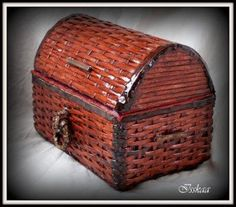 How to DIY Coffer Use Paper Wicker