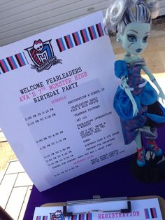 Photo 3 of 23: Monster High Fearleading Camp / Birthday Avas 7th Monster High Birthday Party | Catch My Party