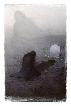 Cemeteries Ghosts Graveyards Spirits:  #Mourning.