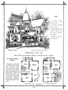 here is the plans for your next Dream Home, designed by George Franklin Barber who was the American architect who started a mail order firm, where you could obtain complete house plans through mail in order to have a local contractor build your house. Thousands of Victorian houses were built in America, Canada and elsewhere in the world following his firm's plans