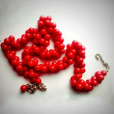 """Vintage Napier Cherry Red Cluster Bead Necklace Vintage Napier Cherry Red Cluster Bead Necklace with signed gold hardware. Beautiful, bright and adjustable. Can be worn with jeans or a gown! Perfect condition. Adjustable from 18-25"""". Vintage Jewelry Necklaces"""