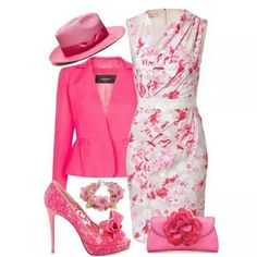 Mother of the bride outfit for a pink wedding Derby Outfits, Mode Outfits, Classy Outfits, Beautiful Outfits, Look Fashion, Womens Fashion, Fashion Design, Mode Collage, Lady Like