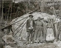 Native American Indian Pictures: Ojibwa Indian's Wigwam Houses, Photograph, Gallery