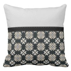 Beautiful Black & White Abstract Pattern Throw Pillow