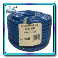 6mm hose 100m SuperTuff Water Genie Blue reinforced hose Window Cleaning Supplies, Window Cleaning Equipment, Water Fed Pole, 100m, Window Cleaner, Garden Hose, Blue