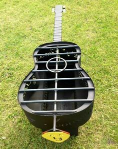 Guitar Shape Fire Pit ... #BBQ #Grills #Smokers #Firepits