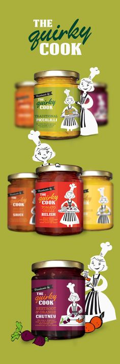 The Quirky Cook jar #packaging and label design