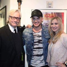 """Love my job! With amazing Adam Lambert and my friend Jim Kerr from @q1043. Check out @AdamLambert…"""