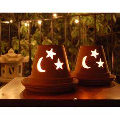 Luminary using clay pot and dremel