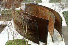 1.Intersection II 2.Richard Serra's  3. 1993 4. Abstract sculpture