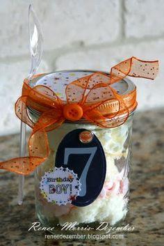 Birthday Cake Jars