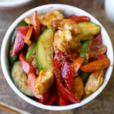Hunan Chicken - Classic American Chinese dish that's a little spicy, sweet and savory.