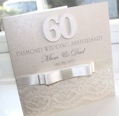 Find This Pin And More On 60th Anniversary Personalised Handmade Diamond Wedding By CEDesignsCards