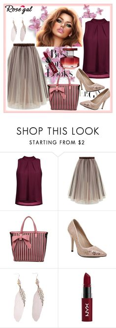 """""""Tank Top and Skirt 31"""" by car69 ❤ liked on Polyvore featuring H&M, NYX, Avon, fashionable and rosegal"""