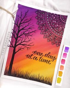 Mandala Art Therapy, Mandala Art Lesson, Mandala Artwork, Mandala Drawing, Oil Pastel Art, Oil Pastel Drawings, Art Drawings Beautiful, Art Drawings Sketches Simple, Zantangle Art