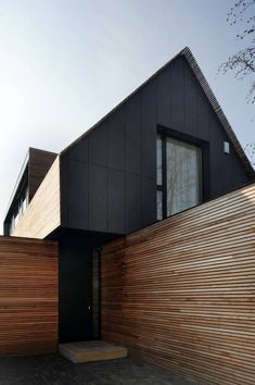 Low energy house in filsdorf - haus kieffer: houses of steinmetzdemeyer architectes urbanistes, classic - Kleine Häuser - Architecture Architecture Résidentielle, Architecture Portfolio, Hospital Architecture, Town Country Haus, Design Exterior, Timber Cladding, Shed Homes, Modern Barn, Building A Shed