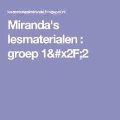 Miranda's lesmaterialen : groep 1/2