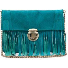Fab. Bag Gili Rumbai Turquoise ($170) ❤ liked on Polyvore