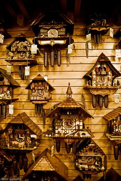 House of 1000 Clocks - Triberg, Germany. SO many to choose from. We got a clock here on our trip.