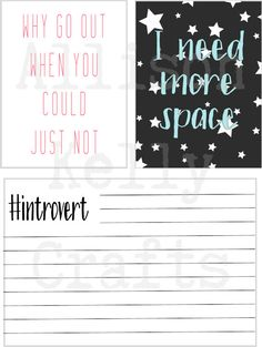 Journal Cards // Introvert Collection // Digital Scrapbook