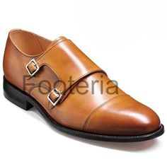 Handmade tan leather shoes, double monk strap shoe, leather shoes for men, dress