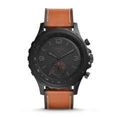 Fossil Q Nate Gen 2 Mens Brown Leather Hybrid Smartwatch -- Learn more by visiting the image link. (This is an affiliate link) Fossil Q Nate Gen 2 Mens Brown Leather Hybrid Smartwatch -- Learn more by visiting the image link. (This is an affiliate link) Fossil Q Watch, Fossil Watches, Women's Watches, Wrist Watches, Watches Online, Jewelry Watches, Dark Brown Leather, Black And Brown, Smooth Leather