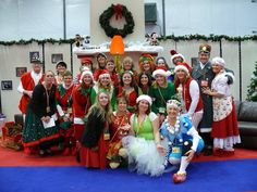 Group shot with elves and kiddos