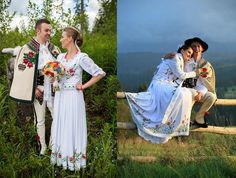 Poland: handpainted weddng dress from the region of Podhale Wedding Vows, Wedding Dresses, Polish Wedding, Highlanders, Arte Popular, Folklore, New Trends, Kimono Top, Hand Painted