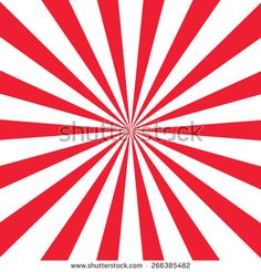 Digital abstract red and white radial stripe sunburst pattern background, with stripes radiating from the center. Stock graphic by Tigerlynx, available for licensing from Shutterstock.