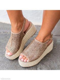 cdc8c6c85dbe9 Bohemian Peep Toe Casual Date Platform Sandals - berrylook.com Wedge Heels,  Low Heels