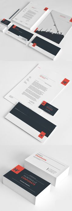 Stationery Corporate Identity Template #brand #identity #branding #corporatedesign #stationerytemplates #visualidentity #stationerypack