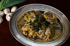 Recipe: Chicken Fricassee with Mushrooms and Leeks on http://www.gastrochic.com