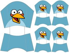 Angry Bird Fry & Snack  Boxes .... free to use & free to share <3