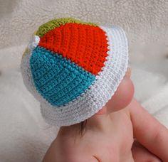 Baby Crochet Beach Ball Hat Unisex Summer Sun by BabyGraceHats, $26.00