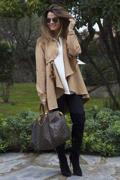Chaqueta Camel y bolso Louis Vuitton    Blog de Moda